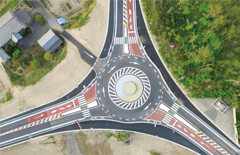 交通事故を減らすための交差点改良設計