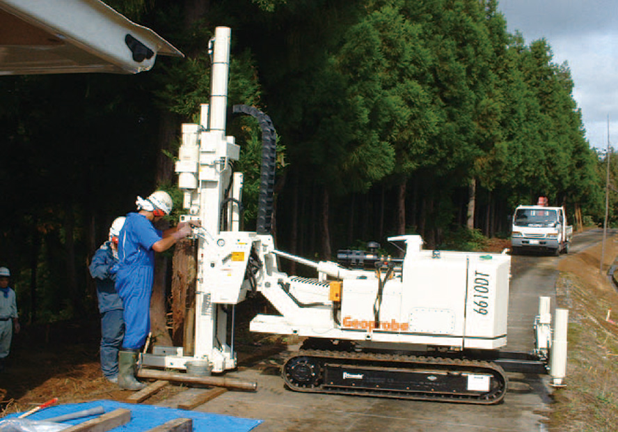 ジオプローブ・システムズによる土壌汚染調査
