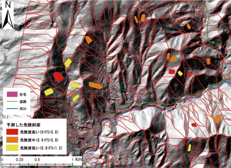 GIS×数値解析による広域斜面崩壊危険度評価